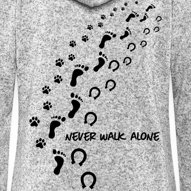 Vorschau: never walk alone hund pferd - Frauen Kapuzen-Fleecejacke