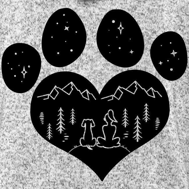Vorschau: dog girl outdoor pawheart - Frauen Kapuzen-Fleecejacke