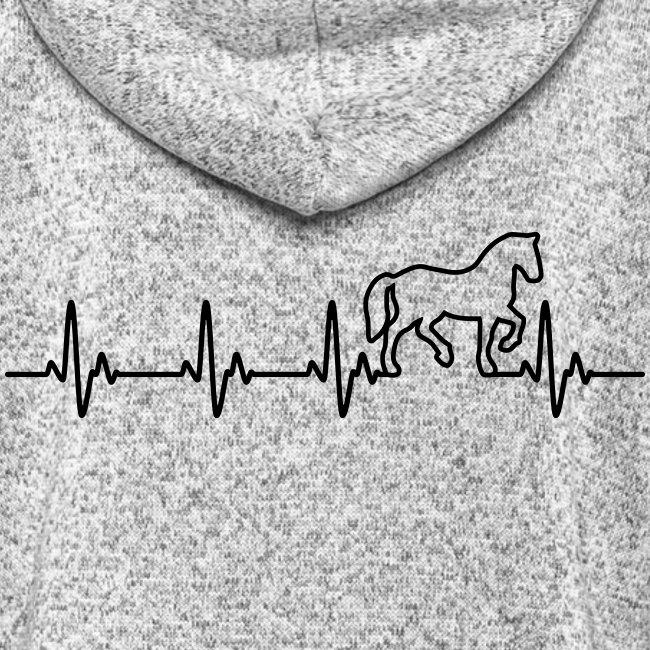 Vorschau: Horse Heartbeat - Frauen Kapuzen-Fleecejacke
