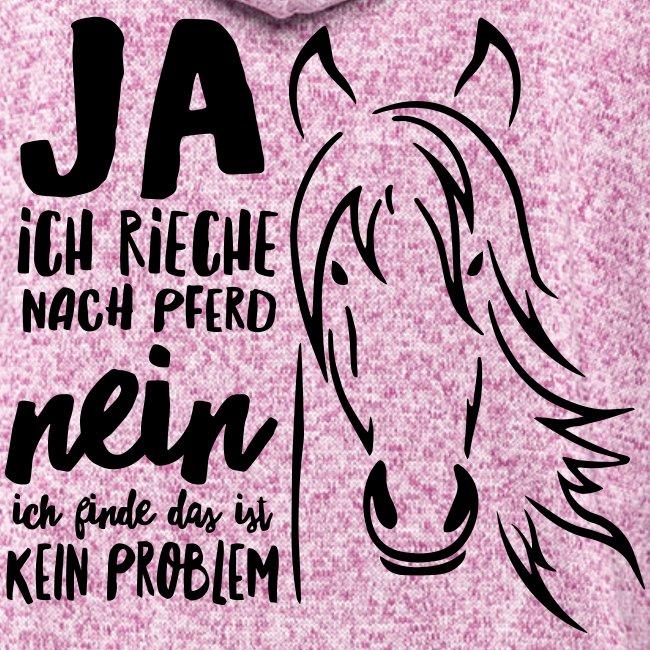 Vorschau: ja ich rieche nach Pferd - Frauen Kapuzen-Fleecejacke