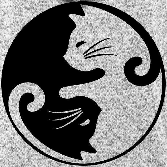 Vorschau: yin yang cat - Frauen Kapuzen-Fleecejacke