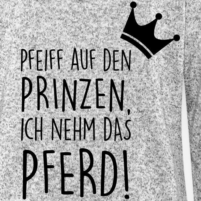 Vorschau: Pfeiff auf den Prinzen - Frauen Kapuzen-Fleecejacke