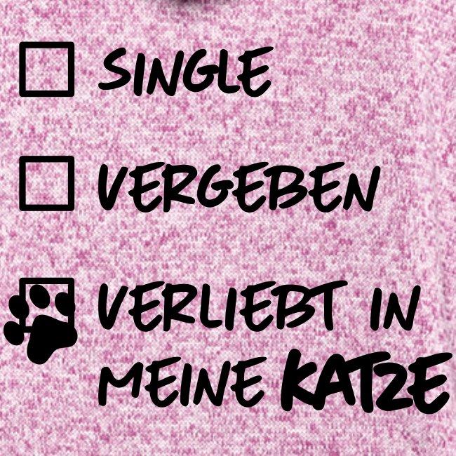 Vorschau: single verliebt katze - Frauen Kapuzen-Fleecejacke