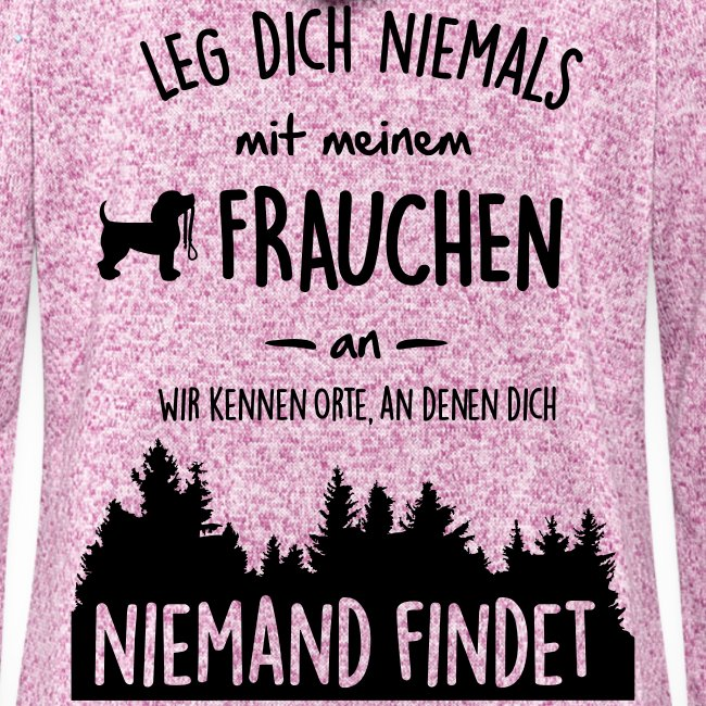 Vorschau: Mein Frauchen - Frauen Kapuzen-Fleecejacke