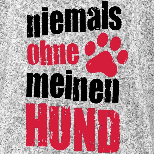 Vorschau: niemals ohne meinen hund - Frauen Kapuzen-Fleecejacke