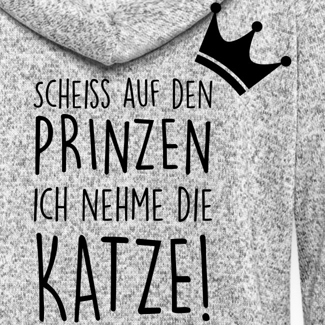 Vorschau: Scheiss auf den Prinzen - Frauen Kapuzen-Fleecejacke