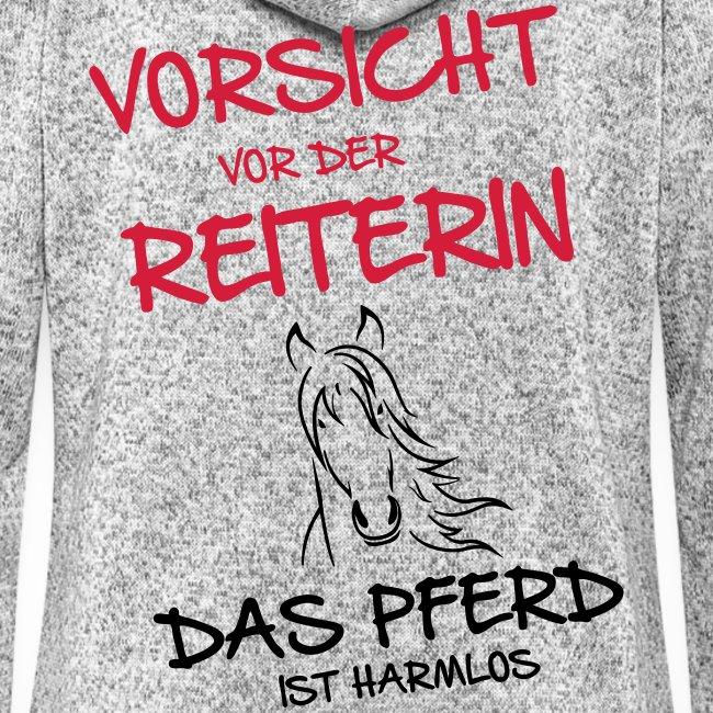 Vorschau: Vorsicht vor der Reiterin - Frauen Kapuzen-Fleecejacke