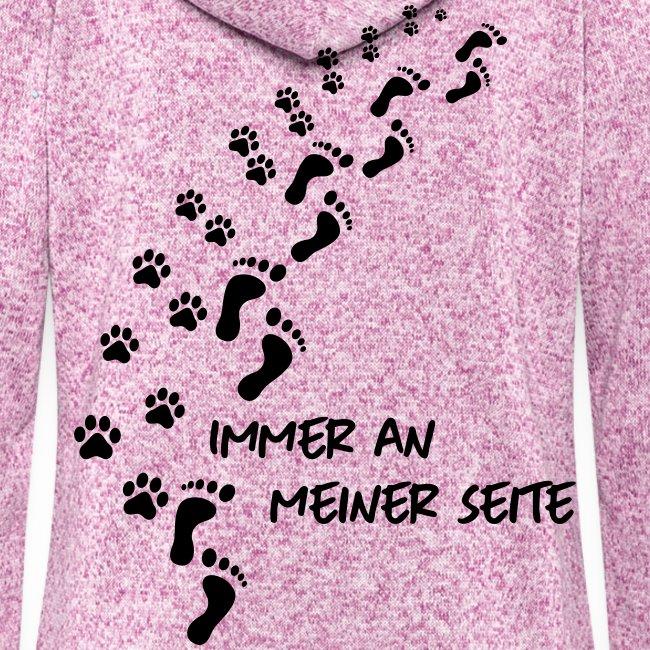 Vorschau: Immer an meiner Seite - Mein Hund und Ich - Frauen Kapuzen-Fleecejacke