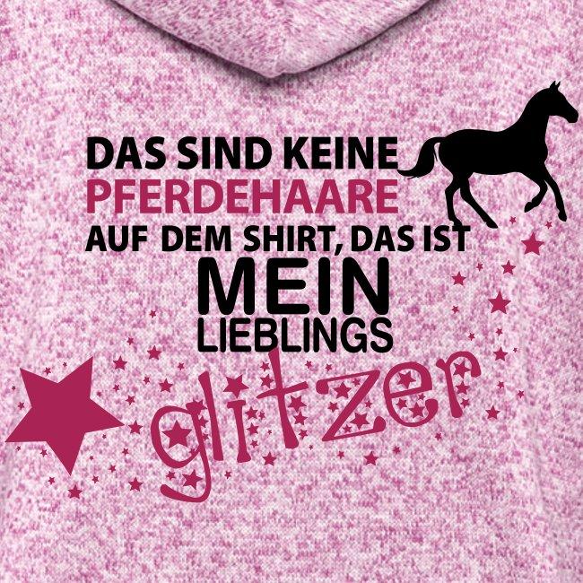 Vorschau: Glitzer Pferd - Frauen Kapuzen-Fleecejacke
