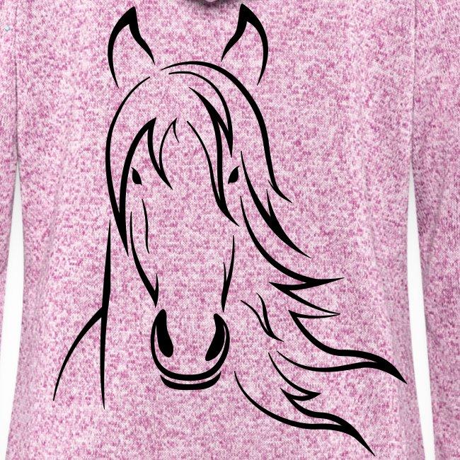 Vorschau: Horse - Frauen Kapuzen-Fleecejacke