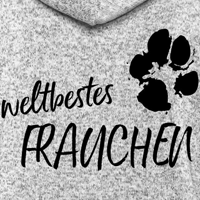 Vorschau: weltbestes Frauchen Pfote Hund - Frauen Kapuzen-Fleecejacke