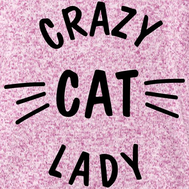 Vorschau: Crazy Cat Lady meow - Frauen Kapuzen-Fleecejacke