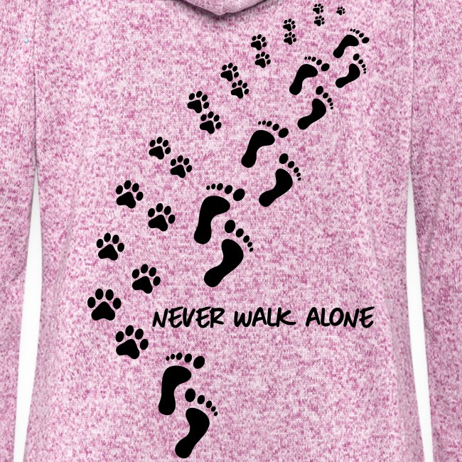 Vorschau: never walk alone dog - Frauen Kapuzen-Fleecejacke