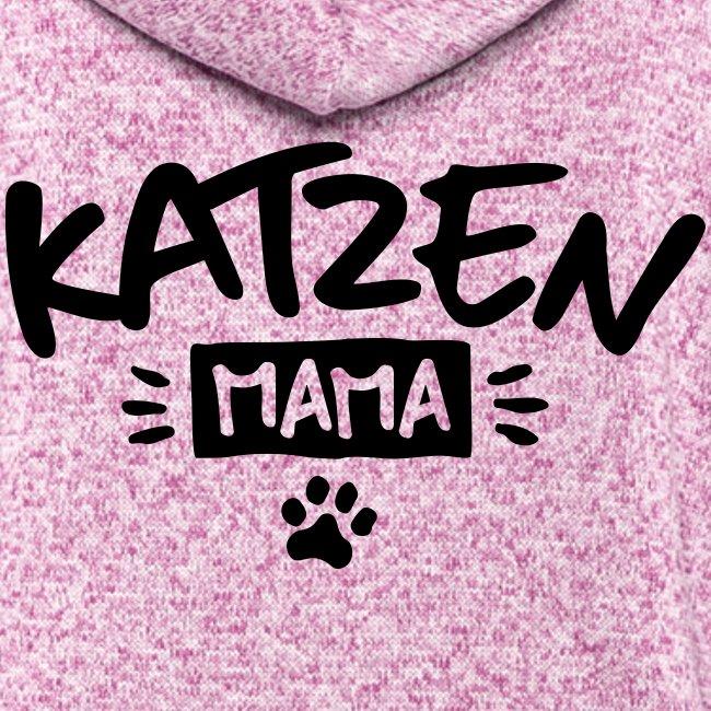 Vorschau: Katzen Mama - Frauen Kapuzen-Fleecejacke