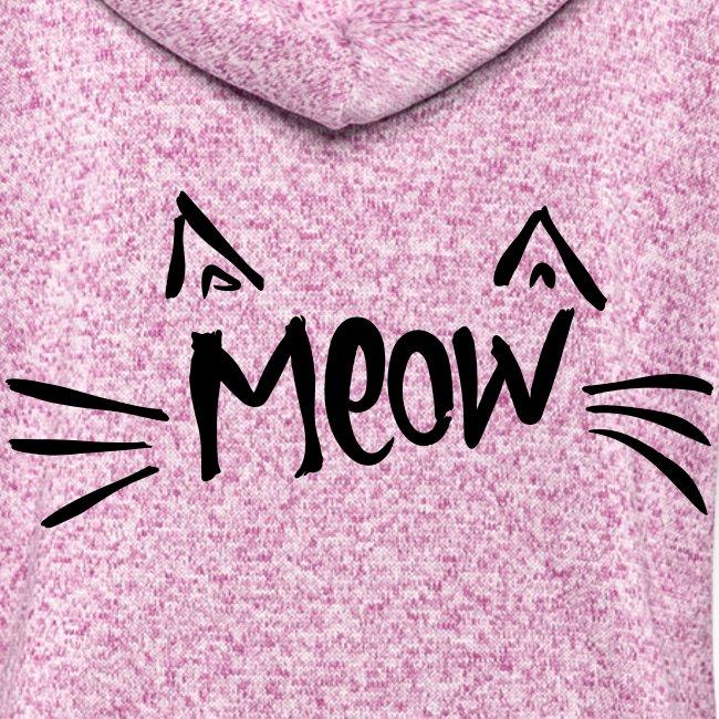 Vorschau: meow2 - Frauen Kapuzen-Fleecejacke