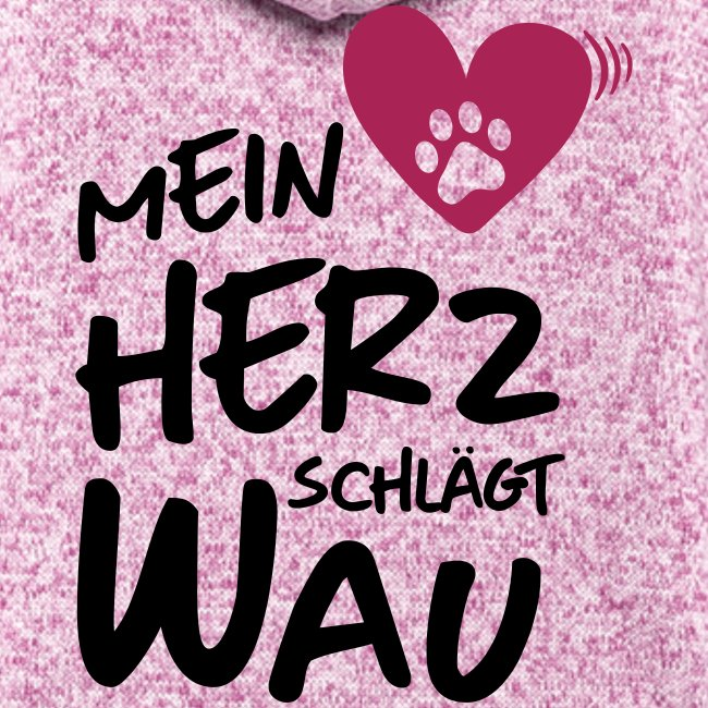 Vorschau: Mein Herz schlägt Wau - Frauen Kapuzen-Fleecejacke