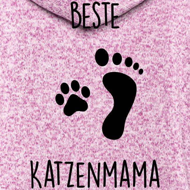 Vorschau: Beste Katzenmama - Frauen Kapuzen-Fleecejacke