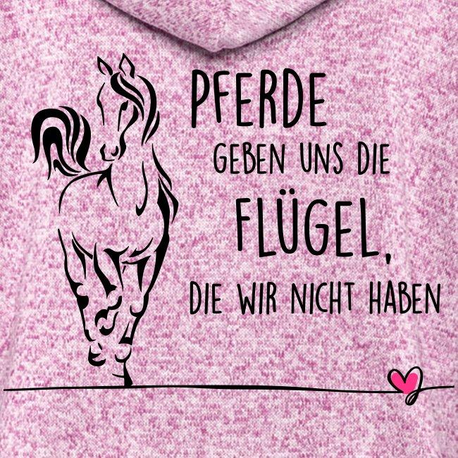 Vorschau: Pferd Flügel - Frauen Kapuzen-Fleecejacke