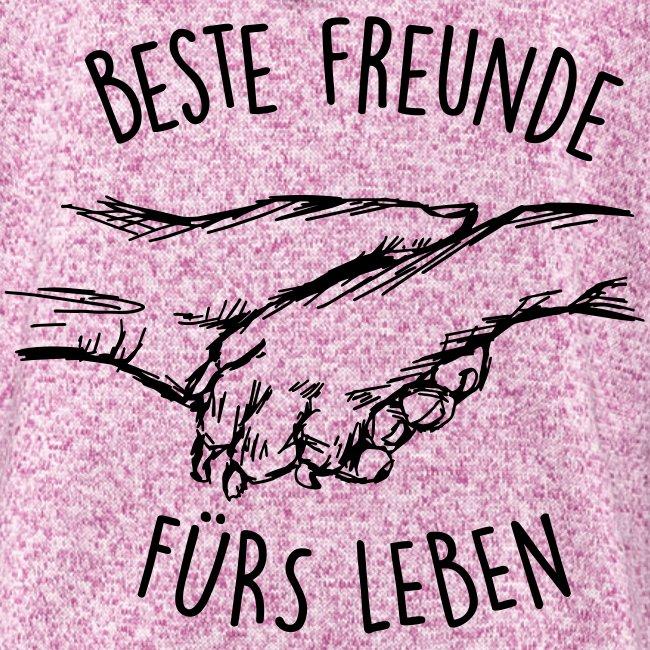 Vorschau: Beste Freunde fürs Leben - Frauen Kapuzen-Fleecejacke