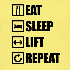 EAT SLEEP LIFT REPEAT - Ekologiczny top damski