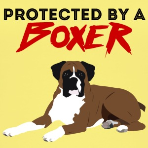 Dog / Boxer: Protected By A Boxer - Women's Organic Tank Top