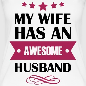 My Wife has an awesome husband - Frauen Bio Tank Top