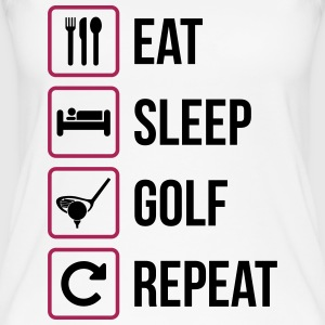 Eat Sleep Golf Gentag - Øko tank top til damer