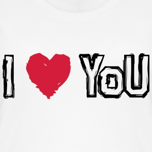 I LOVE U - Øko-singlet for kvinner