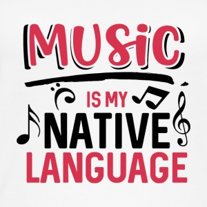 Music is my native language - Women's Organic Tank Top