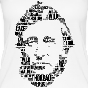 thoreau stencil word cloud - Vrouwen bio tank top