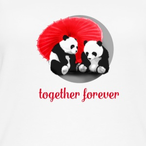 panda love forever Love dab LOL fun cool cute gir - Women's Organic Tank Top