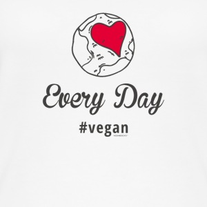 "Vegan T-Shirt ""Every Day # vegan"" (Slim Silver) - Women's Organic Tank Top"