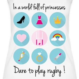 In a world full of princesses-Dare to play rugby ! - Débardeur bio pour femmes
