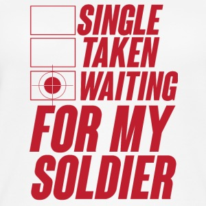 Military / Soldiers: Single, Taken, Waiting for my - Women's Organic Tank Top
