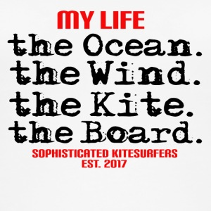 MY LIFE - the Ocean the wind the kite the board - Frauen Bio Tank Top