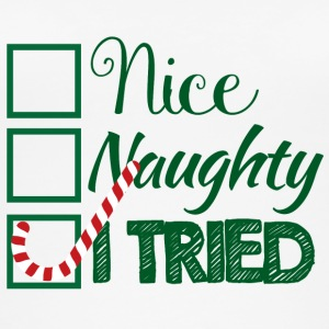 Christmas: Nice, Naughty, I Tried - Women's Organic Tank Top