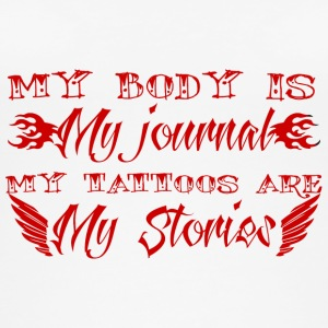 Tatovering / Tatovering: My Body Is My Journal. - Øko tank top til damer