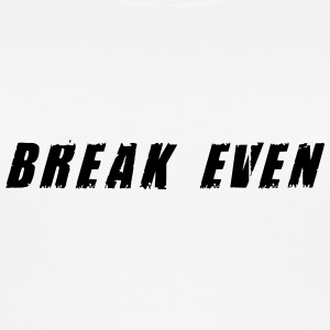 Break-even-Schwarzer Text - Frauen Bio Tank Top