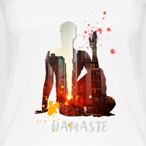 Namaste Yoga Skyline City Sonnenstraße color - Women's Organic Tank Top