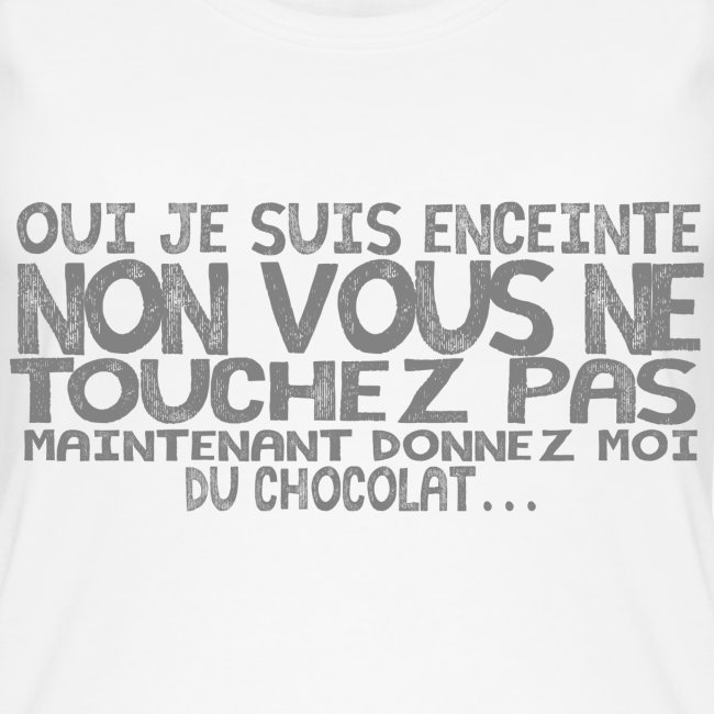 Tshirt-Femme-Enceinte-Chocolat-1
