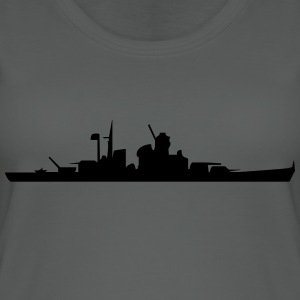 Vector Navy warship Silhouette - Women's Organic Tank Top