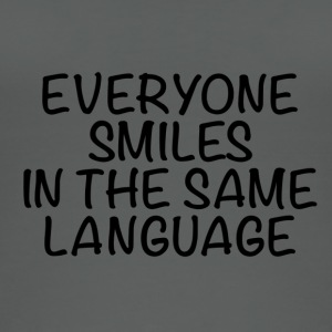 Everyone smiles in the same language - Women's Organic Tank Top
