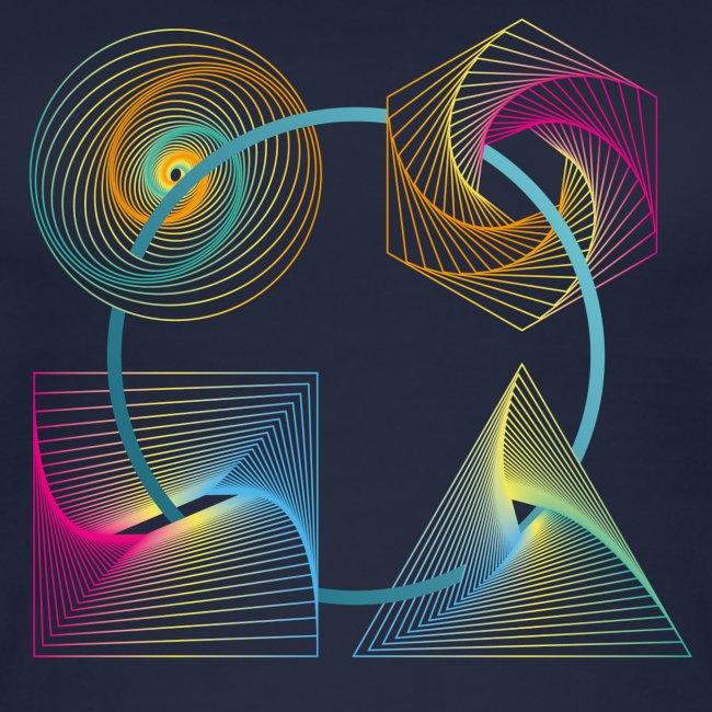 Regenbogen Geometrie