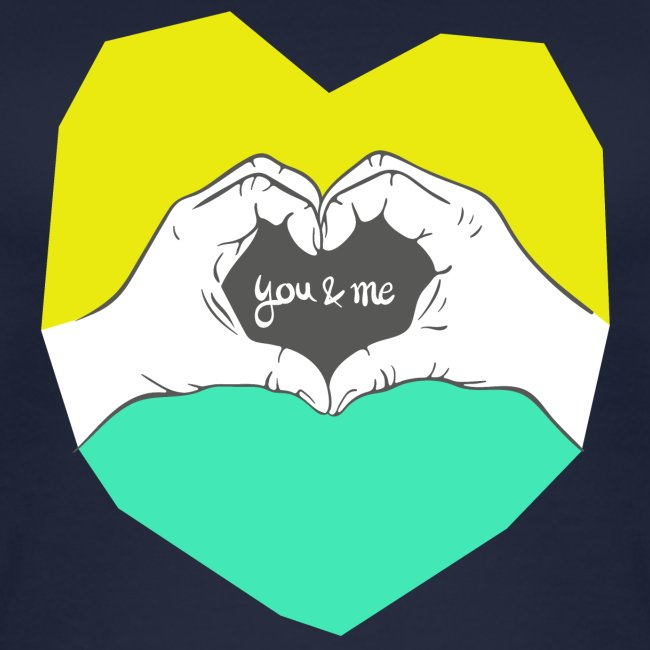 hearthands you & me Poly Herz illustration