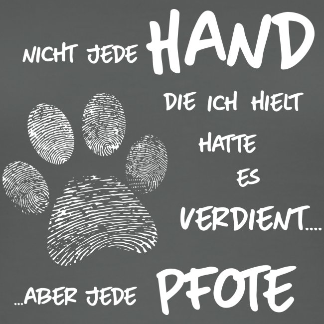 Hand Pfote Hund