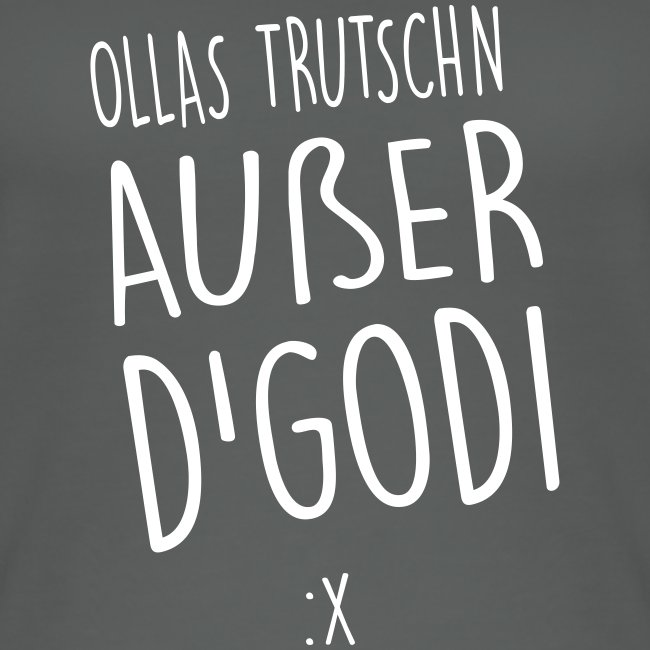 Vorschau: Ollas Trutschn außer d Godi - Frauen Bio Tank Top von Stanley & Stella