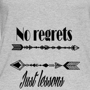 No regrets just lessons - Women's Organic Tank Top