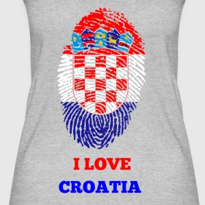 I Love Croatia - Frauen Bio Tank Top
