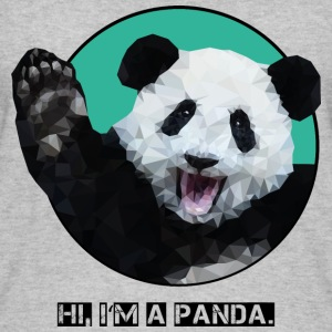 "Panda ""HI, I AM A PANDA."" - Women's Organic Tank Top"