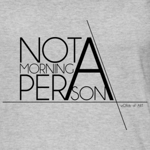 Not a Morning Person black - Women's Organic Tank Top